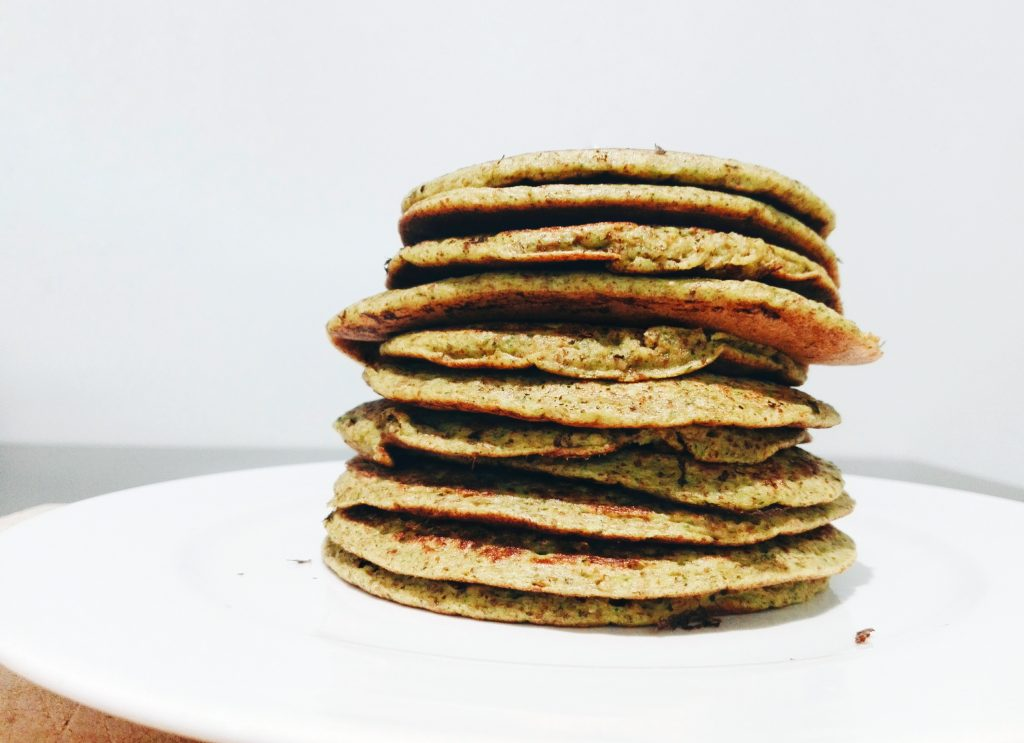 broccoli and carrot pancakes